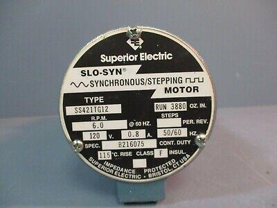 superior electric slosyn synchronous stepping motor ss421tg12 120v 50/60hz   ebay