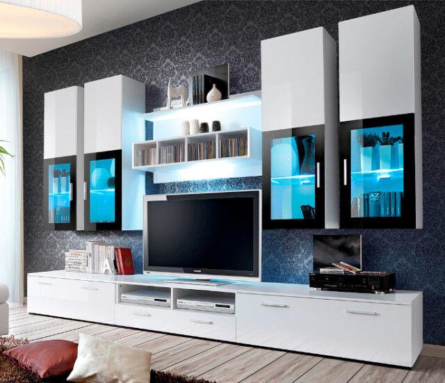Presto 1 High Gloss White Modern Tv