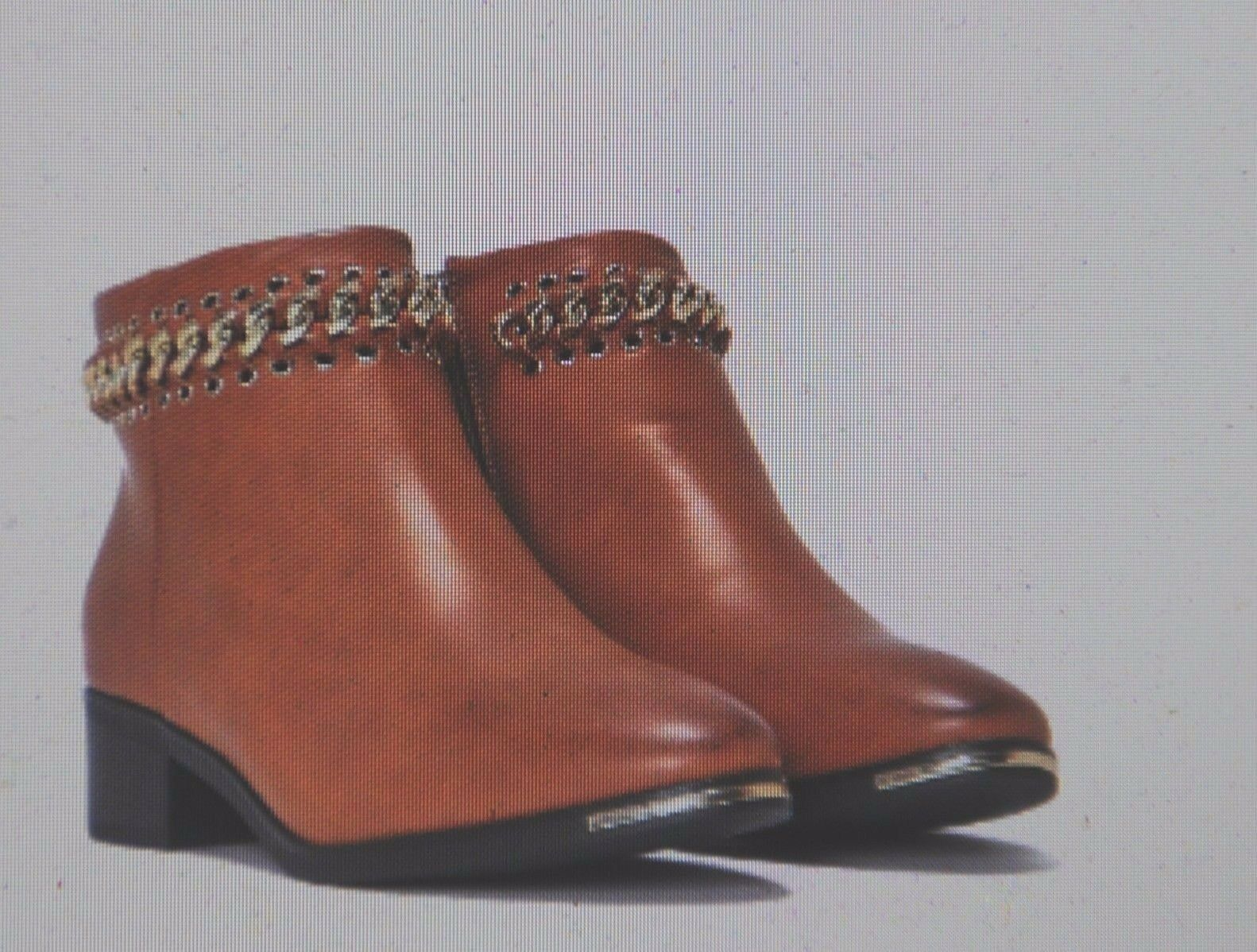 Brown woven chain ankle booties W  size 9 from NASTY GAL