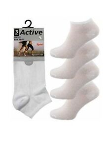 "6 Mens Black /""BIG FOOT/"" Active Sport Cotton Rich Trainer Liner Socks UK 11-14"