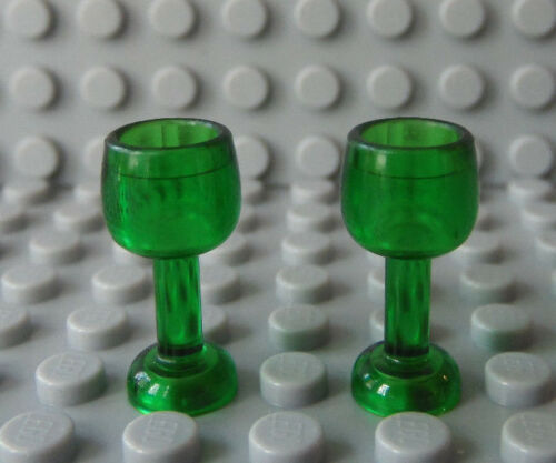 LEGO Minifig Green GOBLET Wine Water Goblet Drinking Glass Kitchen NEW