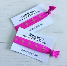 Hot Pink Flamingo Hair Ties Wristbands Party Bag Filler Favour