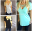 thumbnail 1 - Criss Criss Caged Strappy V-Neck Relaxed Fit Tunic Short Sleeve Tee T-Shirt Top