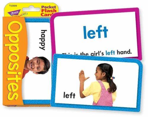 TREND kids childrens OPPOSITES Pocket Flash Card