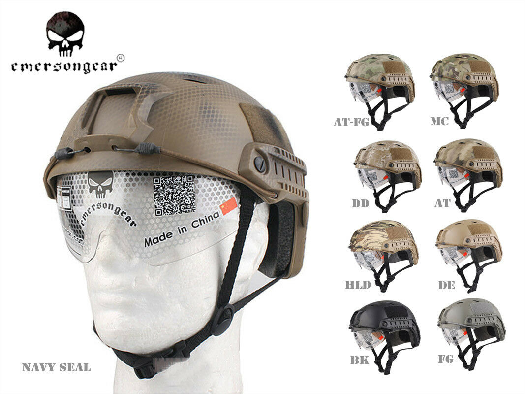 Emerson Airsoft Tactical FAST  Helmet with Predective Goggle BJ EM8818  official website