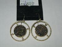 Vicenzagold Round Drusy Quartz Dangle Earrings 14k Gold Qvc Pink Tone $299