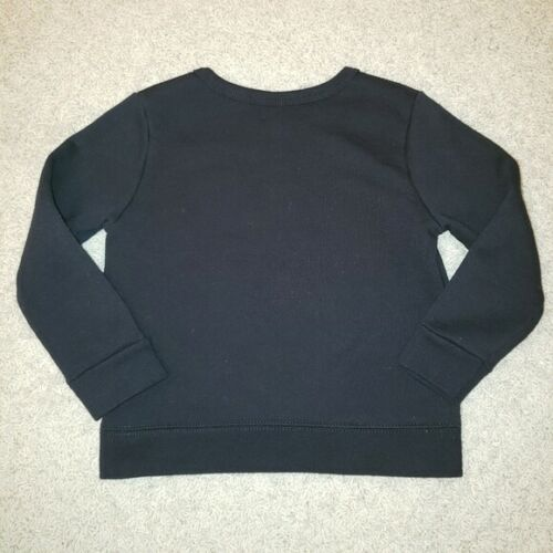"Garanimals Girls Black PUllover Sweatshirt Top 2T /""MEOW/"" #WC"