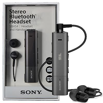 Sony SBH54 NFC Stereo Bluetooth HD Voice Noise Cancellation Headset FM Handset