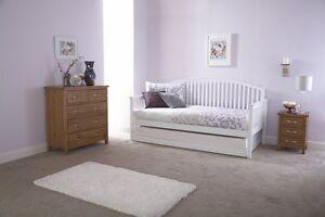 Tagesbett holz  Holz Shaker Stil Tagesbett and Trundle Gebogene Sofa Weiß oder Oak ...
