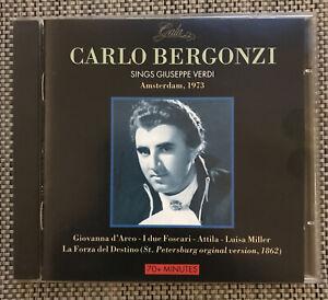 Carlo Bergonzi Sings Verdi : Amsterdam, 1973 : 70+ Minutes (CD)