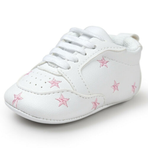 Toddler Newborn Baby Boy Girl Soft Sole Shoes Leather Sneakers Pram Trainers