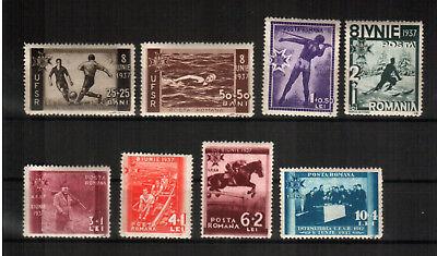 HüBsch Und Bunt europa:16719 Diplomatisch Rumänien Michelnummer 528-535 Postfrisch Falz