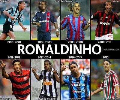 "Ronaldinho Classic Football Team Sports 24/""x14/"" Poster 047 FC Barcelona"