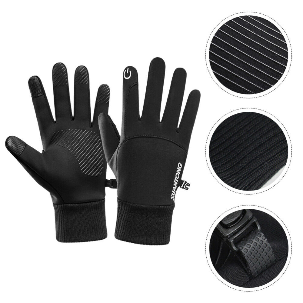 1 Pair Running Black Cloth Hand Mittens for Sports