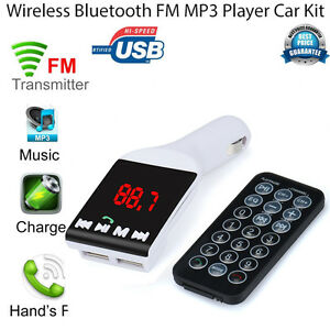 Auto-Kit-Bluetooth-Wireless-FM-Transmitter-MP3-Player-Handsfree-USB-TF-SD-Remote
