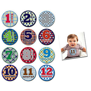 Monthly-Baby-Bodysuit-Stickers-Baby-Boy-Photo-Shirt-Shower-Gift-Keepsakes