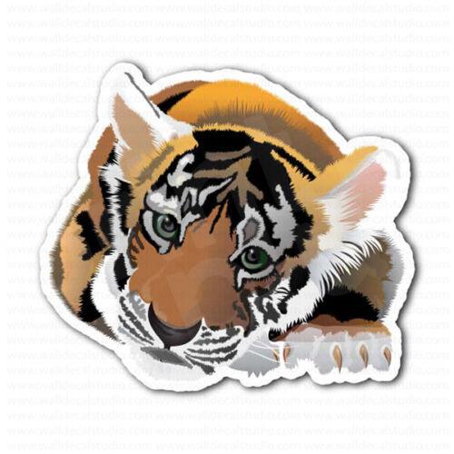 Baby Tiger Cub Laptop Car Bumper Sticker