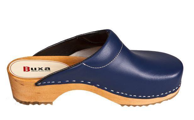 Wooden clogs   Dark  Blau color  (Men) F3 Leder or Suede (Men)  10f898