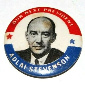 1952 ADLAI STEVENSON campaign pin pinback button political eisenhower election
