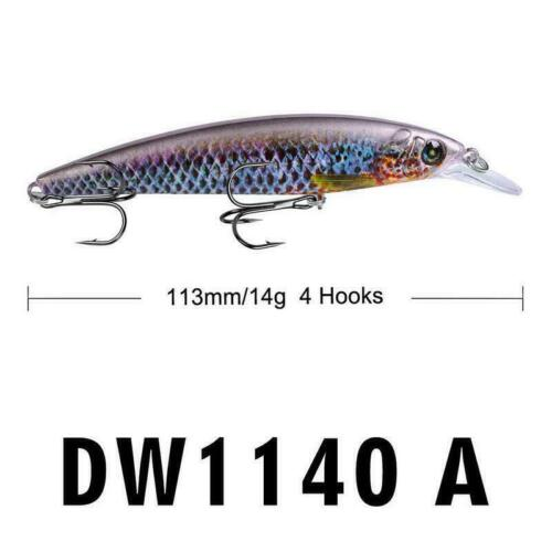 Fishing Bait Simulation Fish Artificial Lure Tackle Spinner Hook Hard Hot M P1K9