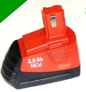 ORIGINALE-Batteria-Hilti-Sfb-121-12-V-con-2-5-Ah-NiCd-2500-mAh-SANYO-celle