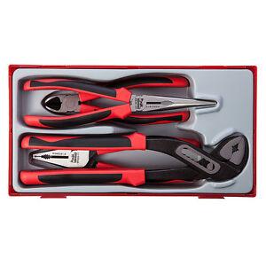 Genuine Teng Tools 4 Pièces Mega Morsure Pince Set avec TPR Poignées-TT440-T