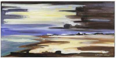 KLAUSEWITZ: ORIGINAL ACRYL GEMÄLDE AUF LEINWAND:AMRUM- GEWITTERFRONT/25x50 cm