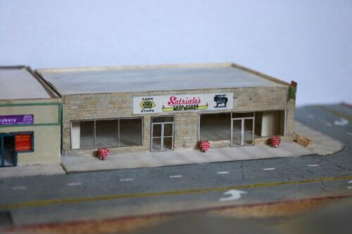 N Scale Laser Cut Satriales Butcher/'s shop from The Sopranos