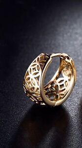 Gents-Mens-Single-earring-18K-Gold-Diamond-Huggie-Hoop-415