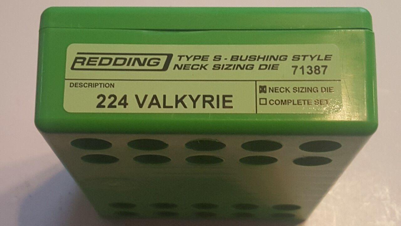 71387 rojoDING Tipo S Cuello Buje De Tamaño Die - 224 VALKYRIE-totalmente Nuevo