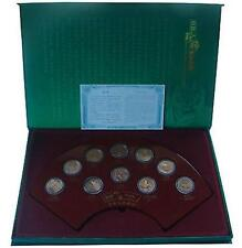 China 1993-1999 Rare Wildlife 5 Yuan Coin Complete Set 10pcs (UNC) In Box