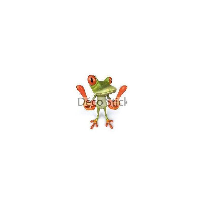 Aufkleber Tier Frosch Attention 75x80cm