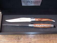 2 Steakmesser Tafelmesser Laguiole en Aubrac Wacholder