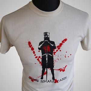 8d1447cfd Monty Python and The Holy Grail Black Knight Retro Movie T Shirt | eBay
