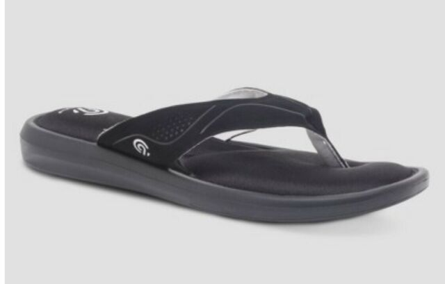 85c1d68806a0f New Women s Lindie Thong Sandal C9 Champion Black Cushion Fit Size 6