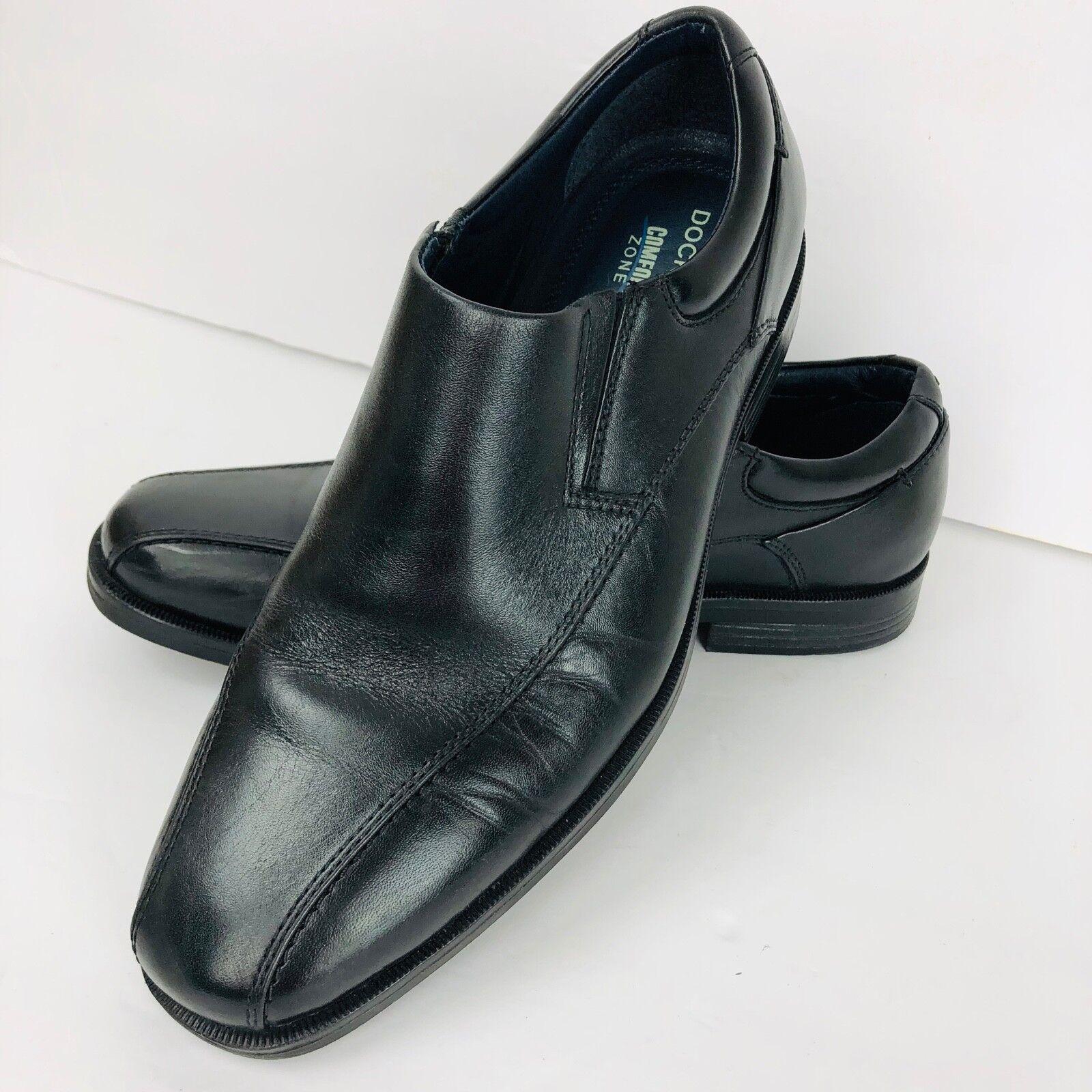 Dockers Mens Worden Business Dress SlipOn Loafer shoes Black Comfort Features 8.5