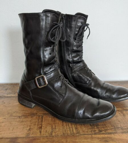 RAFFAELLA VENTURINI Italian Leather Mid-Calf Boots