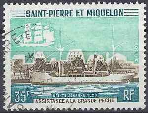 SAINT-STONE-AND-MIQUELON-NO-411-OBLITERATION-STAMP-DATED