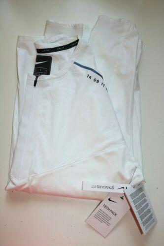 WHITE BQ6399-100 M NIKE TECH PACK MEN RUNNING LONG SLEEVE SWEATSHIRT TOP