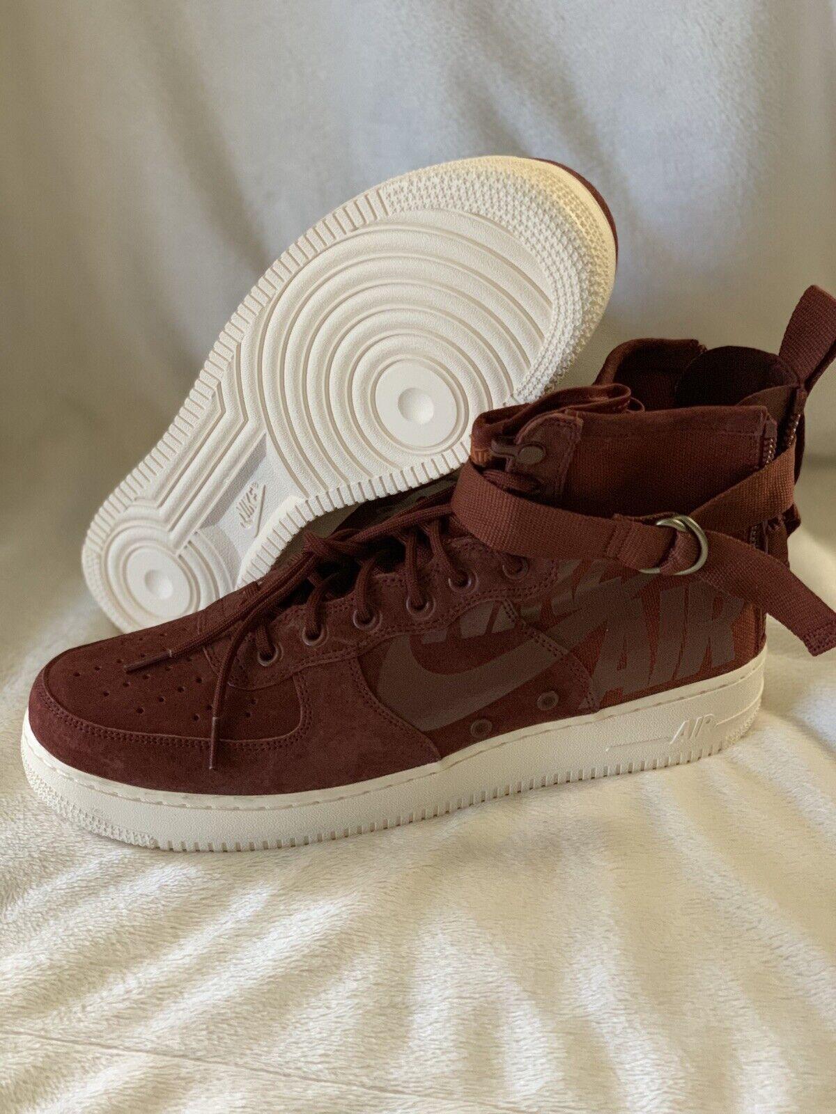 Nike SF Air Force 1 Mid Men 11 AF1 Pueblo Brown Lifestyle Sneakers 917753-202