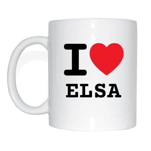 I LOVE Elsa tasse de café tasse
