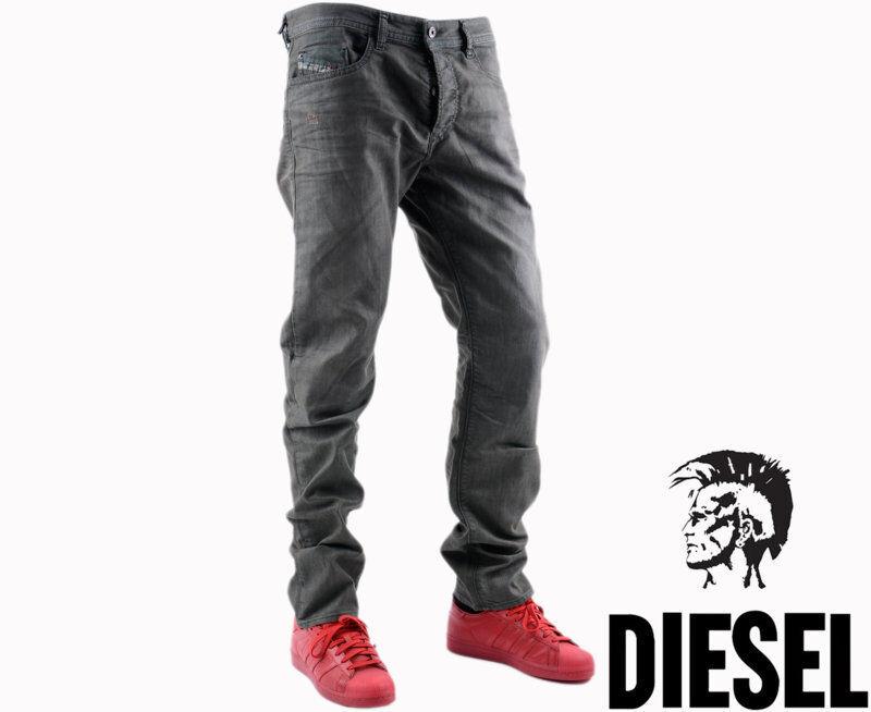 Diesel Buster 0845K W33 L32 para hombre Denim Jeans  Regular Fit Straight verde militar  colores increíbles