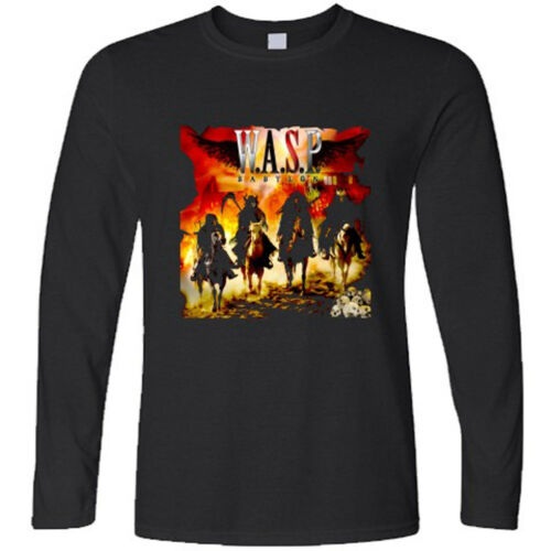 New Wasp W.A.S.P Babylone Rock Band à manches longues T-shirt noir taille S à 3XL