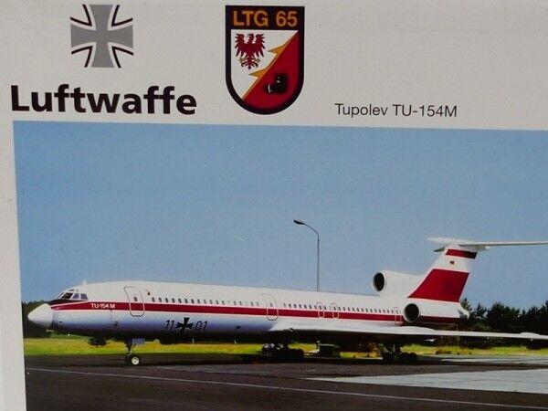 1 200 fuerza aérea Herpa ltg 65 tupolev tu-154m 556460