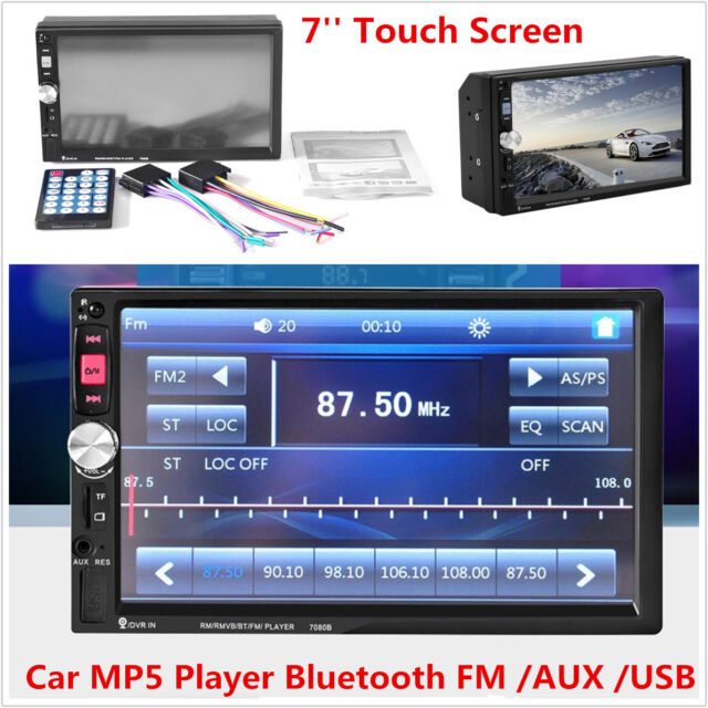 New HD 7/'/' Touch Screen 2Din Car MP3 MP5  AUX Player Bluetooth Stereo Radio Kit