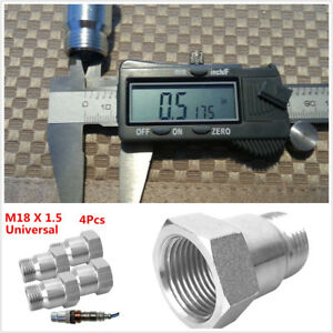 4x-O2-oxygen-sensor-test-pipe-extension-adapter-spacer-M18-1-5-Bung-OSE-M18