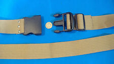 """2"""" WIDE ADJUSTABLE COTTON WEB STRAP TOOL BELT WITH PLASTIC BUCKLE 44"""" LONG"""