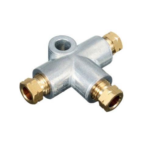 """M10 x 1 mm T-pièce avec frein Nuts /& Olive adapté pour tuyau 1//4/"""""""