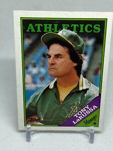 Tony LaRussa 1988 Topps #344 Baseball Card (Oakland Athletics)