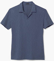 $85 Theory Slim Fit Spread Collar Buttonless Placket Polo Shirt